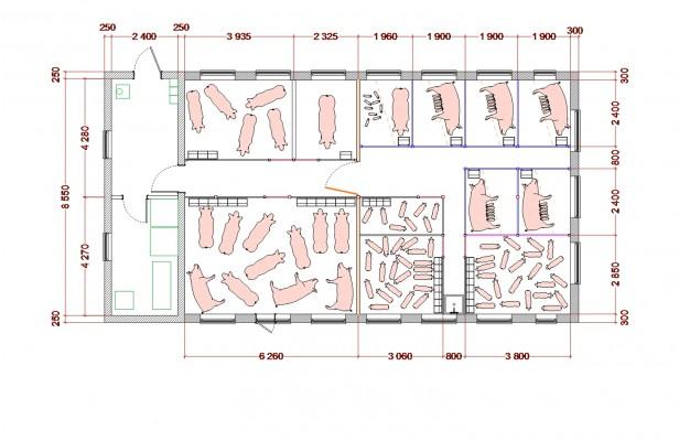 схема свинарника