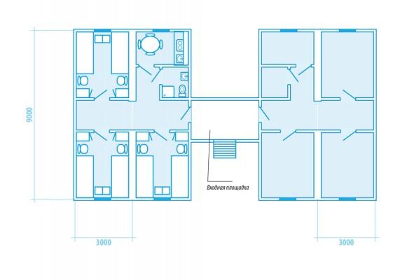 вариант планировки общежития